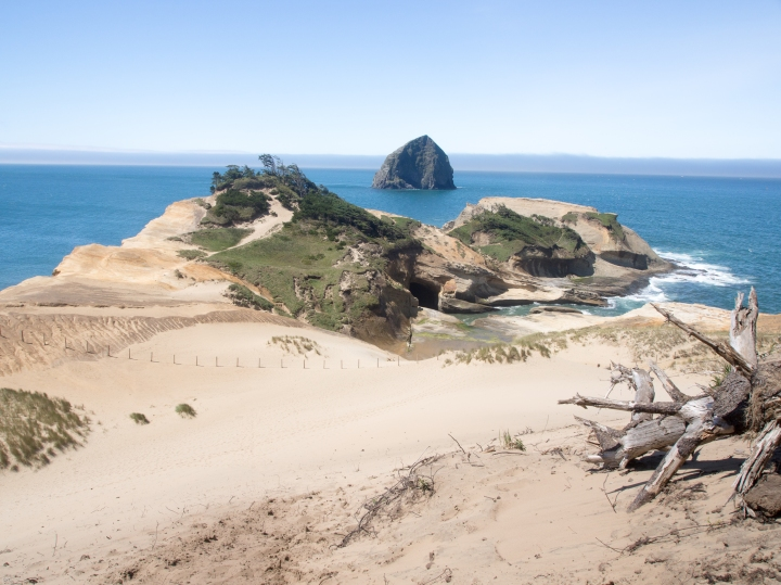 The top of the dune gives views that are worth the effort