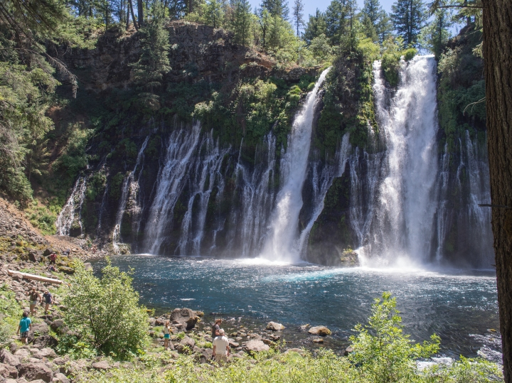 There were lots of waterfalls, this one in Northern California near Mount Shasta